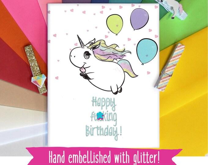 Mature Unicorn Birthday Card, Funny Birthday Card, Best Friend Birthday Gift