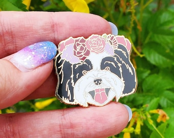 Shih Tzu Enamel Pin - Shih Tzu Dog - Dog Lover Gift - Christmas Gift - Dog Jewelry