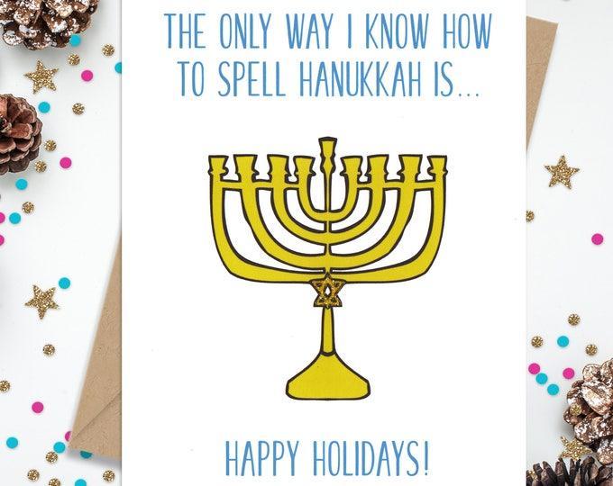 Hanukkah Card, Chanukkah Card, Funny Hanukkah Card, Card for Hanukkah, Funny Holiday Card, Happy Holiday Card, Card for Chanukkah