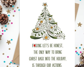 Christmas Card, Funny Christmas Card, Funny Greeting Card, Holiday Card, Christ In Christmas, Christian Holiday Card, Xmas Card