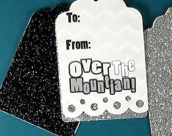 Over the Mountain - Funny Birthday - Gift Tags - Hang Tags - Birthday Gifts - Birthday Wrapping - FourLetterWordCards
