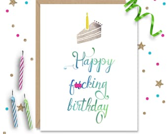Mature Funny Birthday Card Humorous Inappropriate Cards For Her Him Best Friend Gift