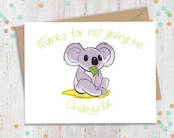 Koala Valentine Card Etsy