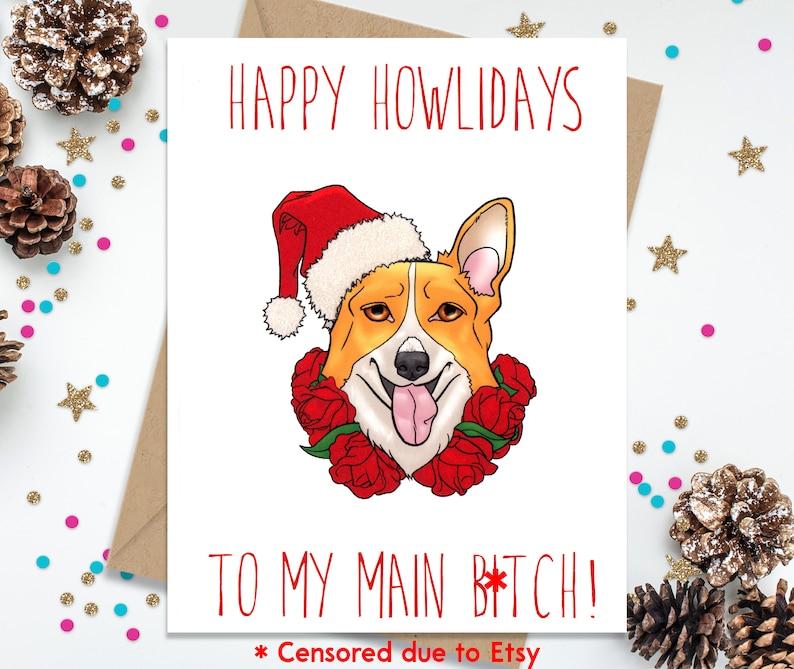 Funny Greeting Card Holiday Card Funny Christmas Card Card image 0