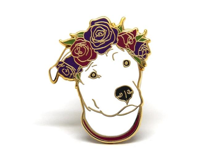 Enamel Pin - Dog Enamel Pin - Dog Lover Gift - Pit Bull Pin - Valentines's Day Gift for Dog Lover