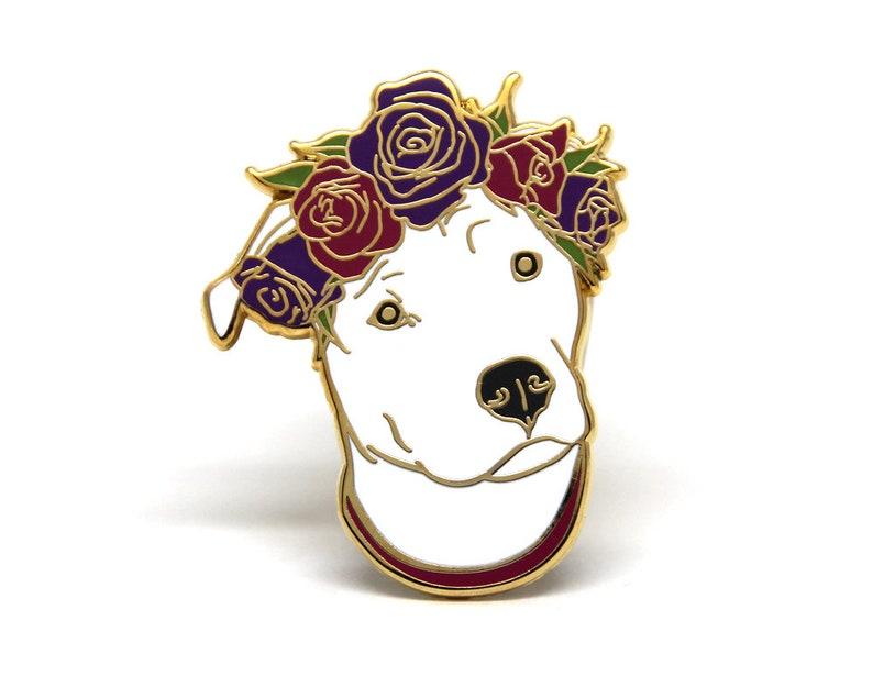 Enamel Pin  Dog Enamel Pin  Dog Lover Gift  Pit Bull Pin  image 1