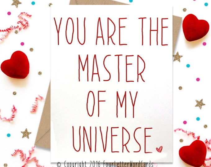 Valentines Day Card, Funny Greeting Card, Card for Him, Card for Her, Anniversary Card, Card for Boyfriend, Card for Husband, I love You