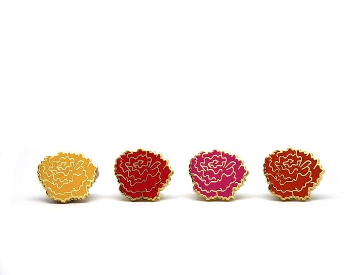 Marigold Enamel Pin Set - Autumn Jewelry - Fall Enamel Pins - Dia Los Muertos - Fall Flair Enamel Pins