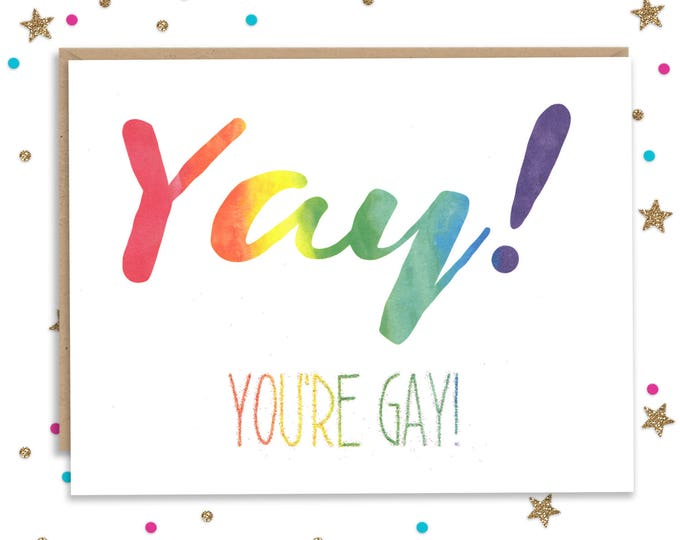 Gay Greeting Card, Gay Celebration, Coming out Card, Card for Gay Son, Card for Gay Daughter, Rainbow Greeting, Coming Out Party, LGBTQ