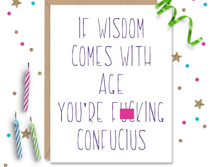 Mature Funny Card, Funny Birthday Card, Humorous Card, Fun Birthday Card, Birthday Gift, Funny Greeting, Card for best friend, Gift for her