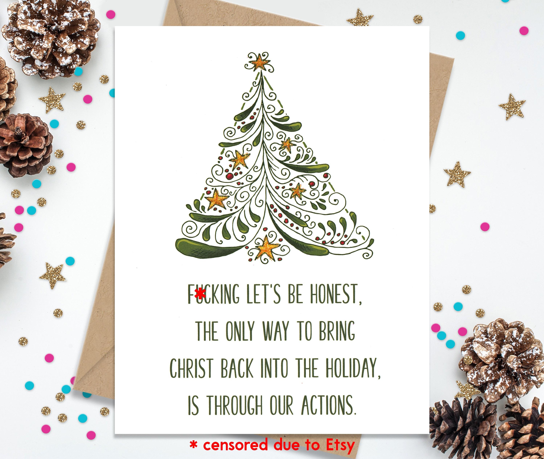 Christmas Card Funny Christmas Card Funny Greeting Card   Etsy