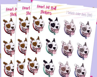 Pit Bull stickers, Bullet Journal Stickers, Cute Planner Stickers
