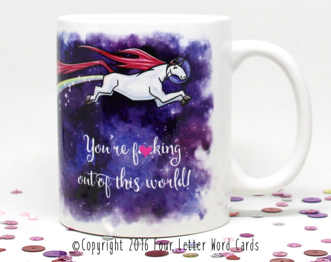 Mature, Graduation Gift, Unicorn Coffee Mug, Space Unicorn Mug, Gift for Graduation