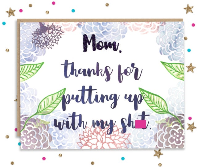 5x7 Mothers Day Card, Funny Card for Mom, Funny Mothers Day, Mothers Day Greeting, Handmade Card, Cards for Mom, Funny Cards for Mom