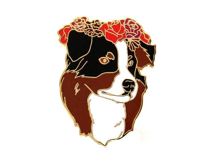 Australian Shepherd Enamel Pin, Gift for Dog Lover, Cute Dog Enamel Pin