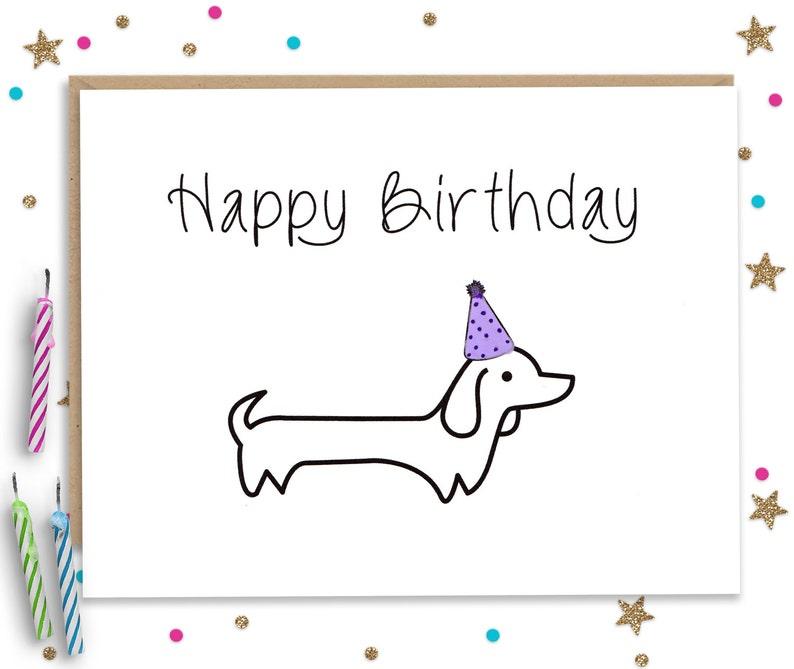 Wiener Dog Birthday Dachshund Card