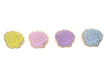 Glitter Pastel Marigold Enamel Pin Set - Autumn Jewelry - Fall Enamel Pins - Dia Los Muertos - Fall Flair Enamel Pins