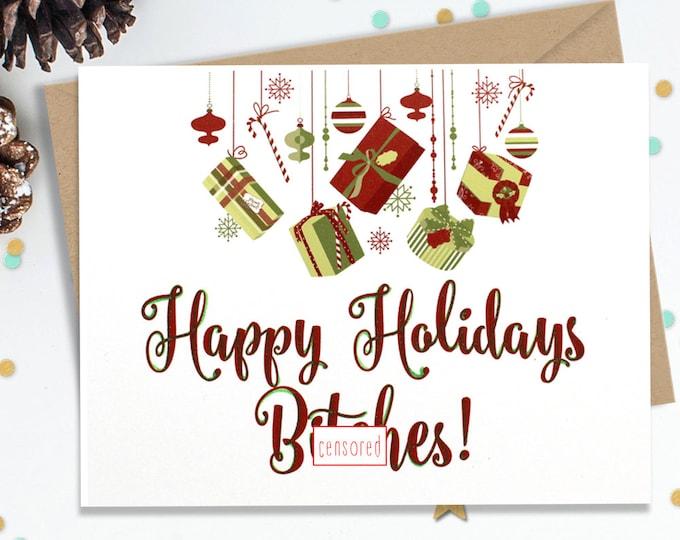 Mature, Funny Holiday Card, Christmas Card, Christmas Gift, Holiday Gift, Funny Greeting, Funny Card, Happy Holidays, FourLetterWordCards