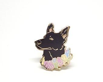 Black German Shepherd Enamel Pin - German Shepherd Lover - Gift for Dog Lover