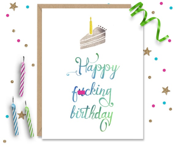 Mature Funny Birthday Card Humorous Inappropriate