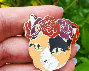 Calico Cat Enamel Pin - TNR Cat - Calico Kitty - Christmas Gift - Cat Jewelry