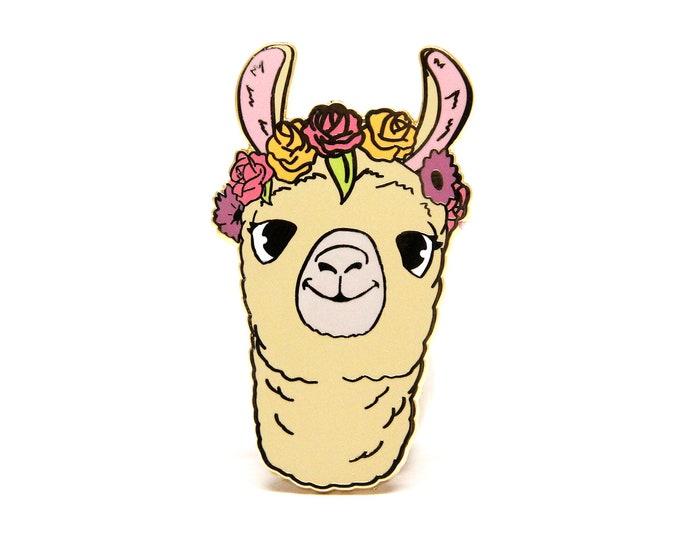 Llama Enamel Pin / Llama Gifts / Valentines Day Gifts / Llama Jewelry