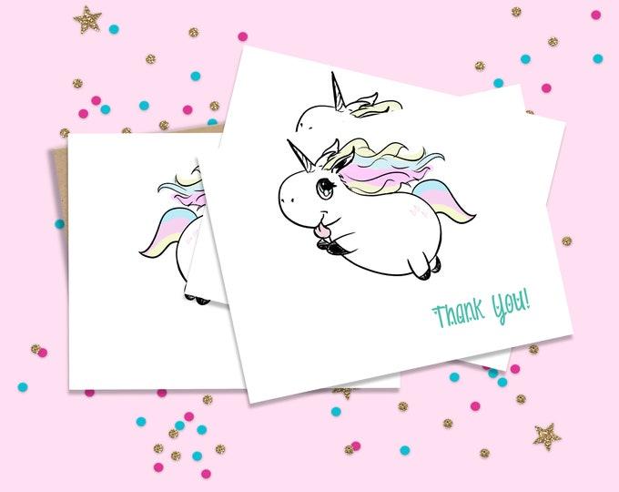 Unicorn Party, Unicorn Thank you, Thank you Notes, Thank you Set, Rainbow Unicorn Cards, Unicorn Party Cards, Thank you Cards, Unicorn Cards