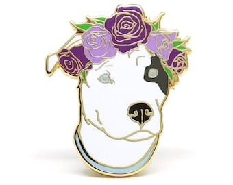 Enamel Pin, Dog Enamel Pin, Dog Lover Gift, Pit Bull Pin, Dog Brooch, Hard Enamel Pin, Holiday Gift for Her, Dog Flair, Holiday Gift for Him