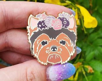 Yorkie Enamel Pin - Yorkshire Terrier Dog - Dog Lover Gift - Christmas Gift - Dog Jewelry