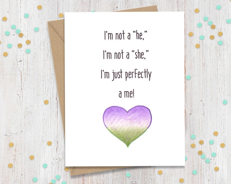 Non-Binary Pride Card Coming out of Closet Coming Out image 0