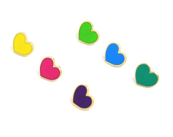 Neon Hearts - Heart Enamel Pins - Valentines Day Gift for Her - Galentines Day Gift - Mini Heart Pins