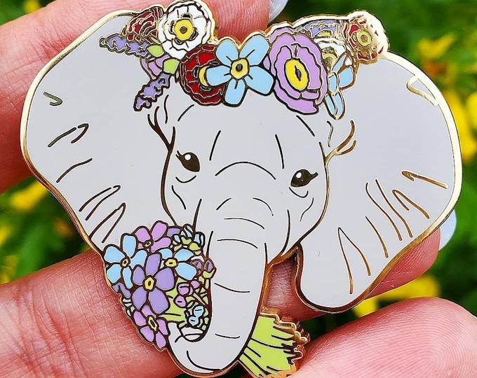 Alzheimer's Elephant Enamel Pin- Caregiver Support - Early Onset Alzheimer's - Elephant Enamel Pin - Caregiver Gift