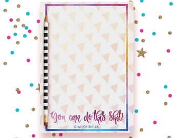 Mature Notepad, You can do This, Inspirational Notepad, Stationery Pad, Notepad for Business, To Do List, Grocery List, Planner Notepad