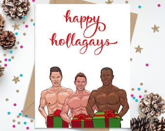 Christmas Card for Him, Gift for Him, Gay Christmas Card, Card for Boyfriend, Card for Husband, Holiday Card, Funny Christmas Card,