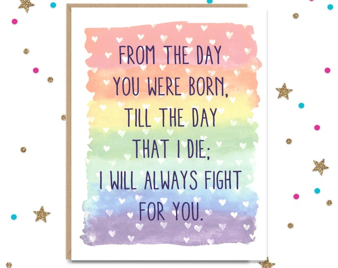 LGBTQ Support Card, Card for Son, Card for Daughter, Card for Sister, Card for Brother, Support Card, Gay Greeting Card, Gay Support Card