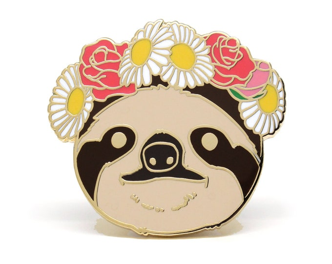 Sloth Enamel Pin - Galentines Day Gift - Valentines Day Gift for Her - Sloth Jewelry