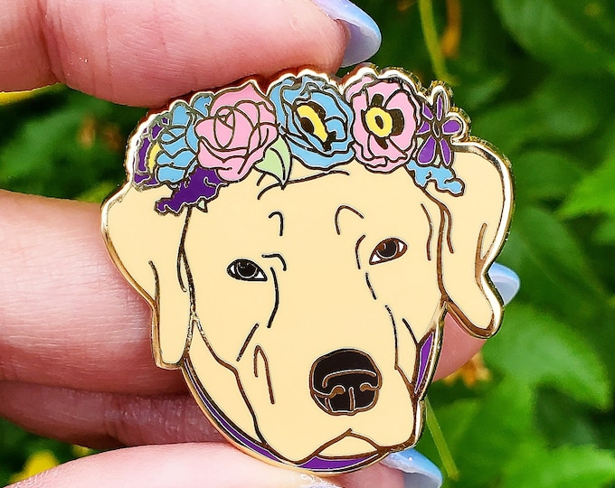 Yellow Labrador Retriever Enamel Pin - Yellow Lab Dog - Dog Lover Gift - Christmas Gift - Dog Jewelry