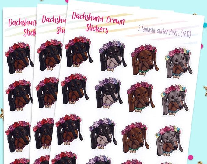 Wiener Dog Stickers, Bullet Journal Stickers, Cute Planner Stickers