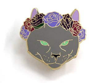 Valentines Day Gift, Cat Jewelry, Russian Blue Cat, Cat Enamel Pin, Hard Enamel Pin, Cute Lapel Pin, Pin collection, Cat Lover Gift,