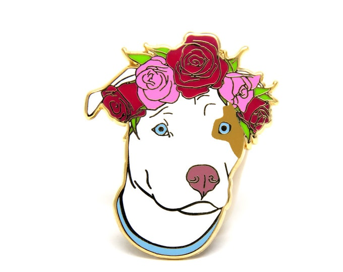 Dog Enamel Pin - Gift For Dog Lover - Valentines Day Gift for Her