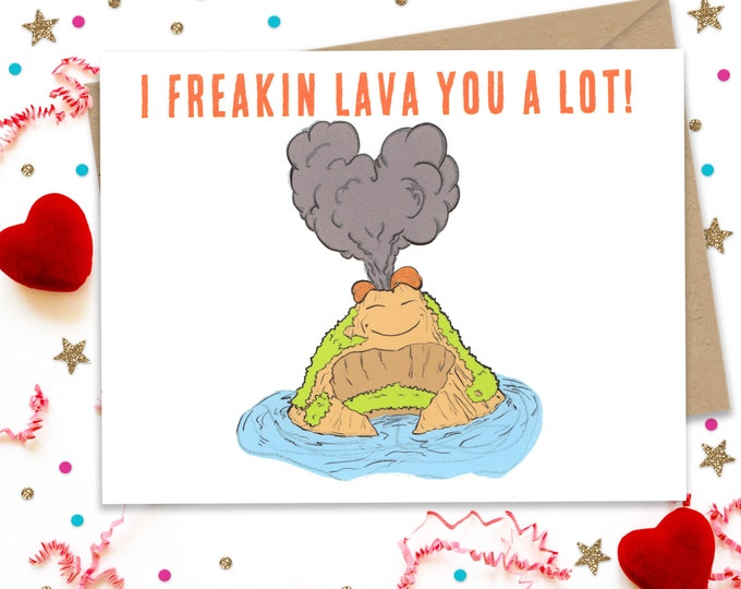 Valentines Day Card, Funny Valentine, Valentines Day Gift, Valentine Card, I lava you Card, Card for Her, Card for Him, Anniversary Card