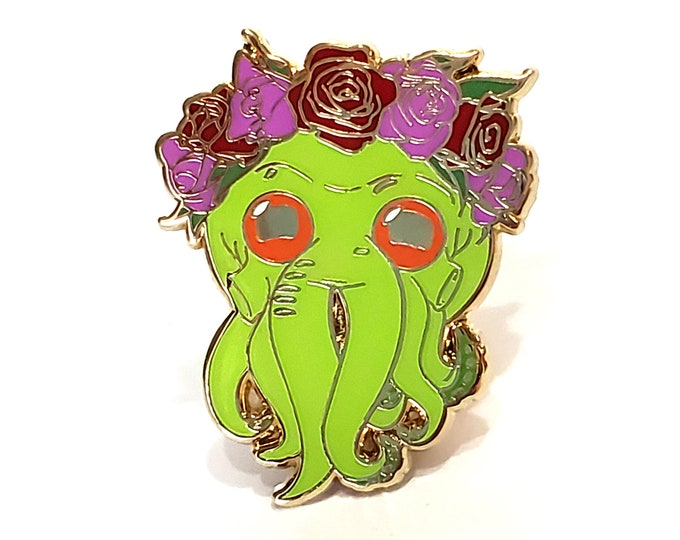 Cthulhu Enamel Pin - Valentine's Day Gift -  Horror Enamel Pin - Gift for Horror Lover -  Halloween Enamel Pin
