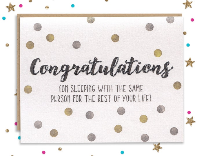 Funny Wedding Card, Card for Bride, Card for Groom, Wedding Card, Congratulations Card, Card for Wedding, Engagement Card, Newly Engaged