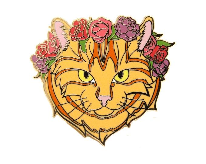 Enamel Pin Cat - Orange Tabby Cat - Tabby Cat Enamel Pin - Gift for Pet Lover