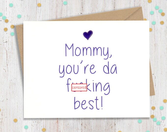 Mature Mother's Day Card. Funny Card for Mom, Funny Mothers Day, Cards for Mom, Funny Gift for Mom, Mothers Day Greeting, Funny Mom Card