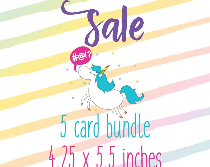 5 Card Pack (4.25 x 5.5 inches)