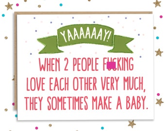 Baby Shower Card, Funny Baby Card, Card for New Parents, Mom to Be Gift, Funny Card for New Mom,  Dad to be Gift, New Parents Gift,