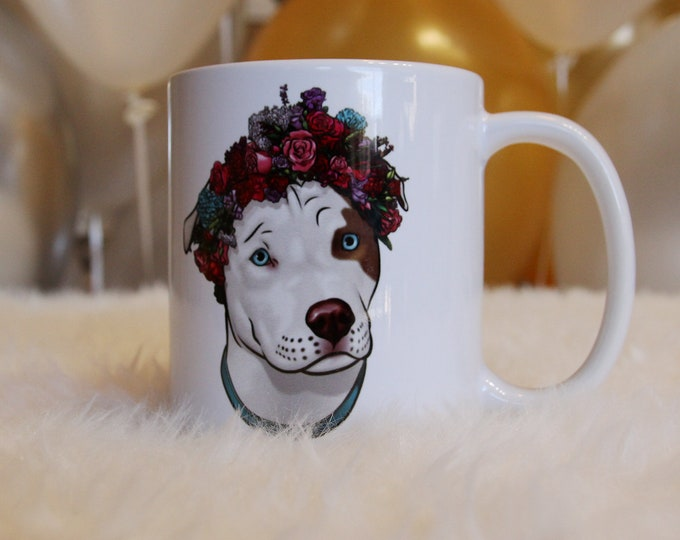 Valentines Day Gift, Coffee Mug Dog, Dog Coffee Mug, Pit Bull Coffee Mug, Gift for Dog Lover, Coffee Mug for Her, Dog Coffee Cup, Pit Bull