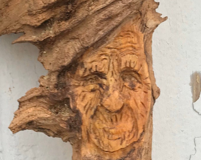 Pine Knot Tree Spirit Carving