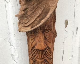 Pine Knot Tree Spirit Carving